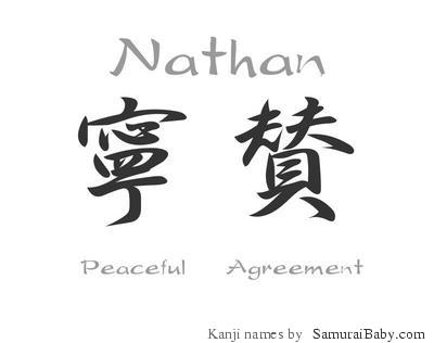 how to write nathan in japanese