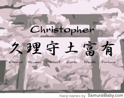 how to say christopher in japanese